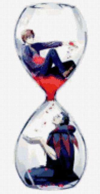 Песочные часы, аниме, часы.