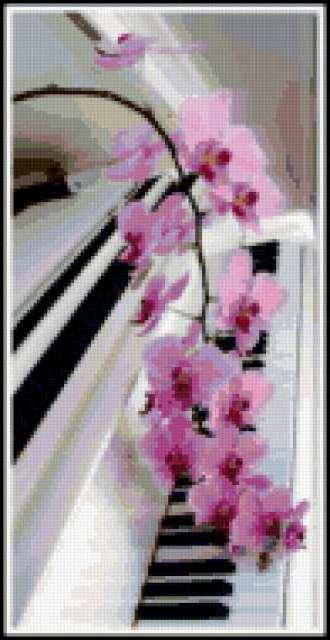 Рояль и цветы, предпросмотр