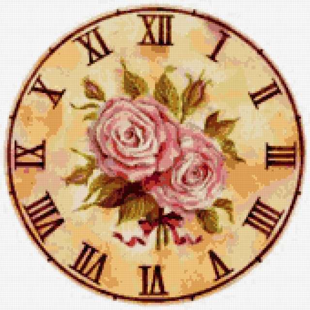 Вышитые часы, предпросмотр