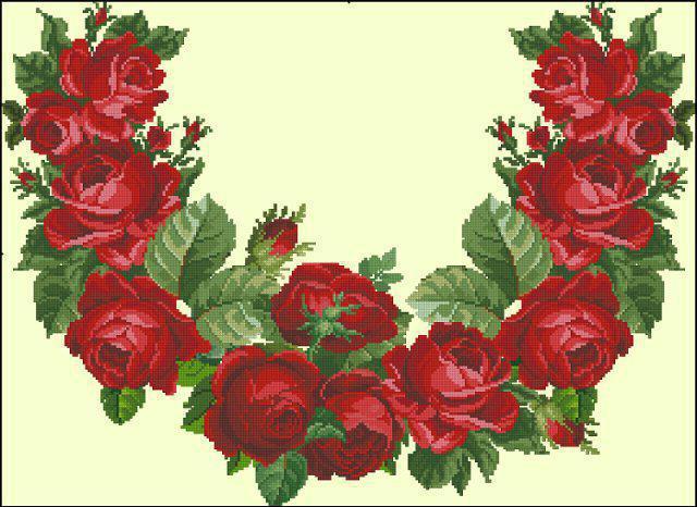 Розы вышиванка, оригинал