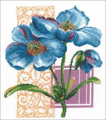 Синий цветок, оригинал
