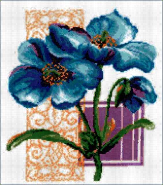 Синий цветок, предпросмотр