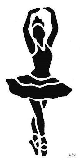 Схема вышивки крестом балерина черно-белое