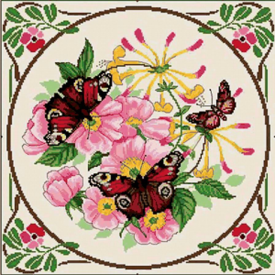 Вышивка цветов. Вышивка цветов на подушках, схемы. Обсуждение 14