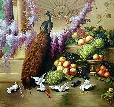 Павлин и голуби, оригинал