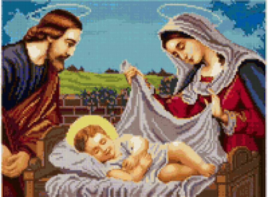 Иисус в колыбели, предпросмотр