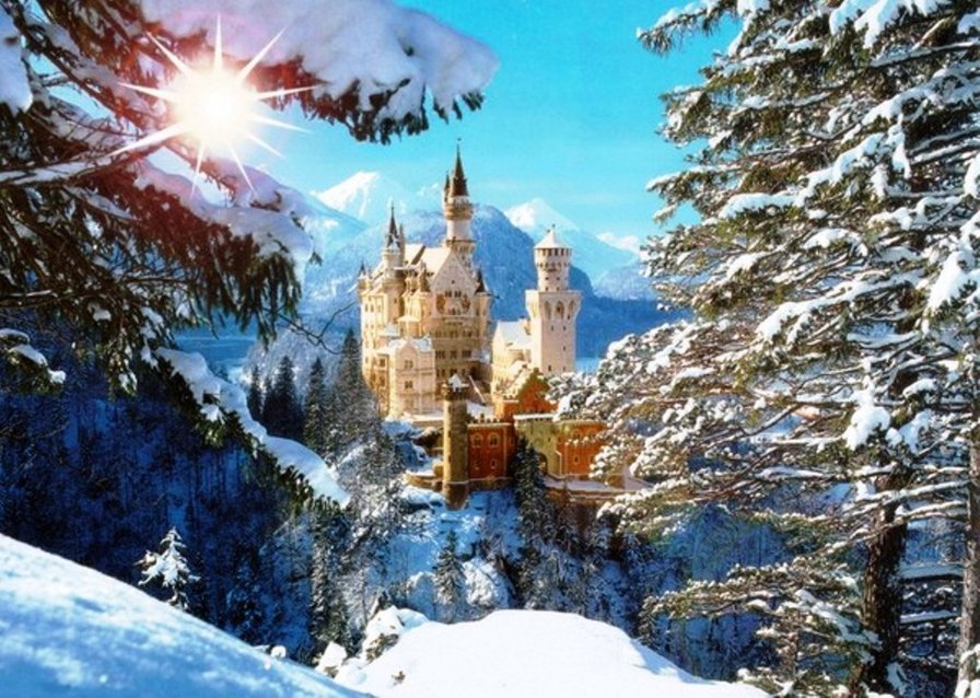 Замок Нойшванштайн, оригинал