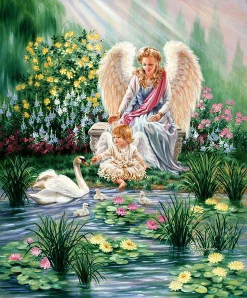 Ангелочек и дитя, ангелочек,