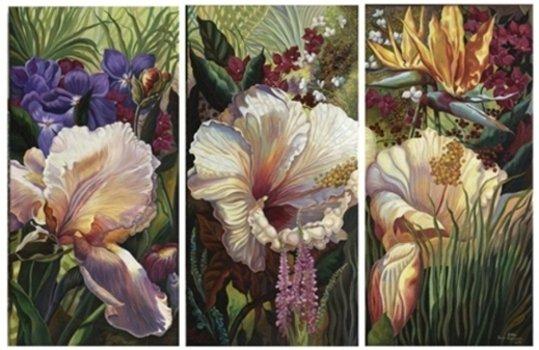 Триптих цветов (общий вид),