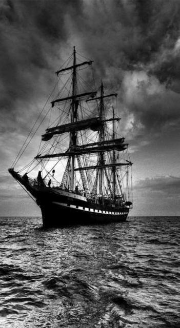триптих Корабль 2, парусник,