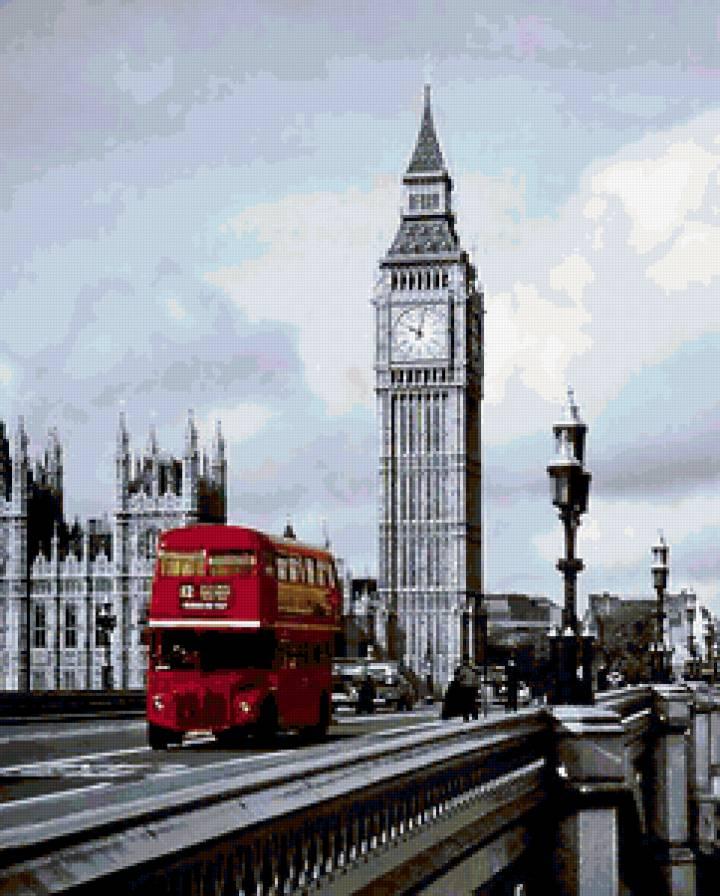 Схема для вышивки лондонский автобус 85