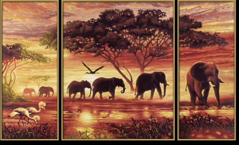 """триптих """"африка"""", триптих"""