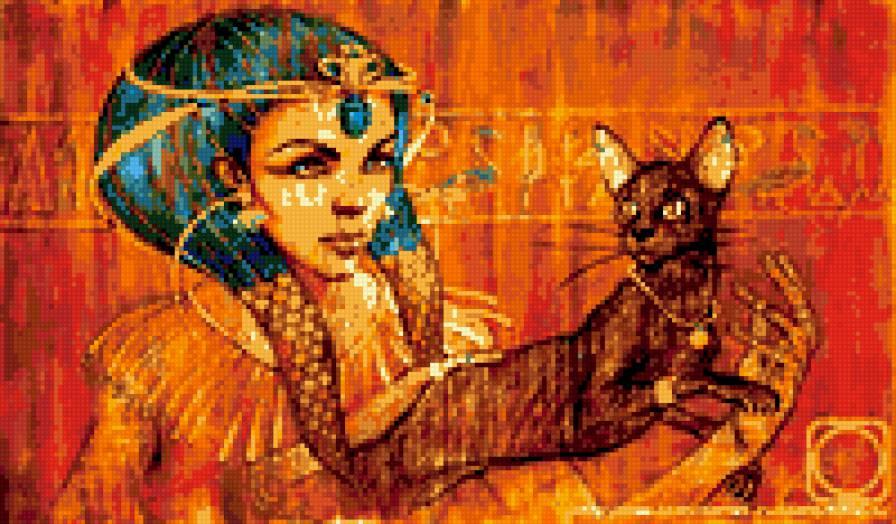 девушка и кошка, девушка,