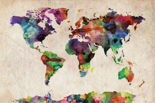 карта мира, оригинал