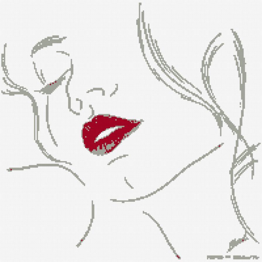 Мультяшная девушка в красном