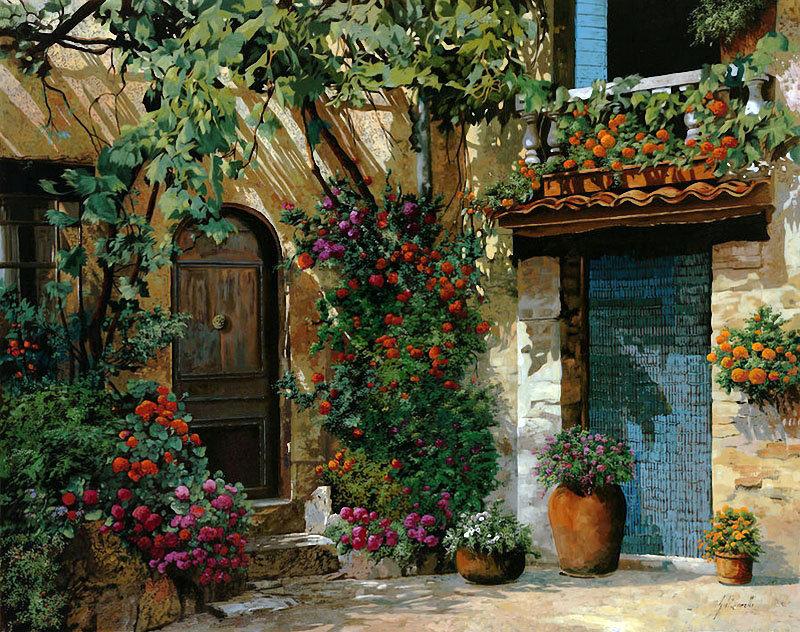 уютный дворик, оригинал