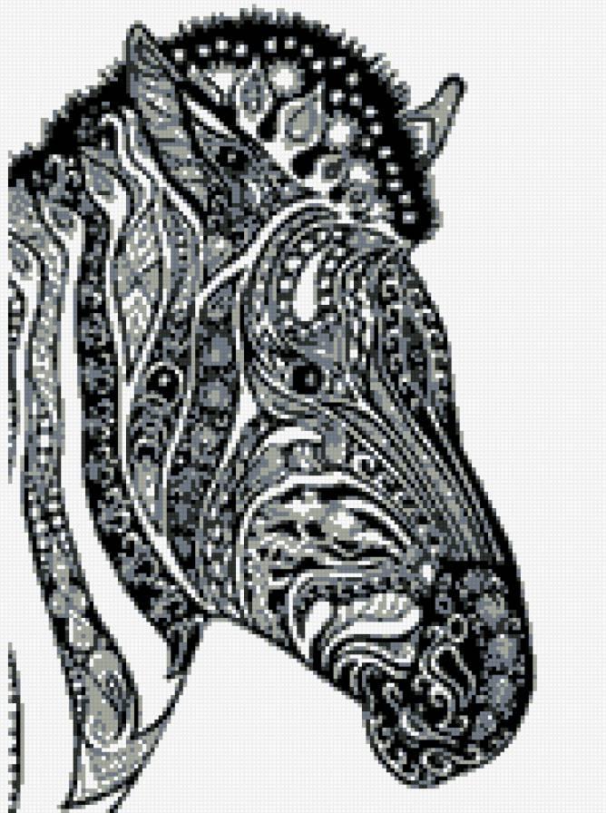 монохром зебра, предпросмотр