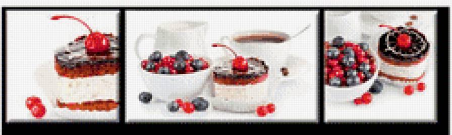 """Триптих для кухни""""Десерт"""","""
