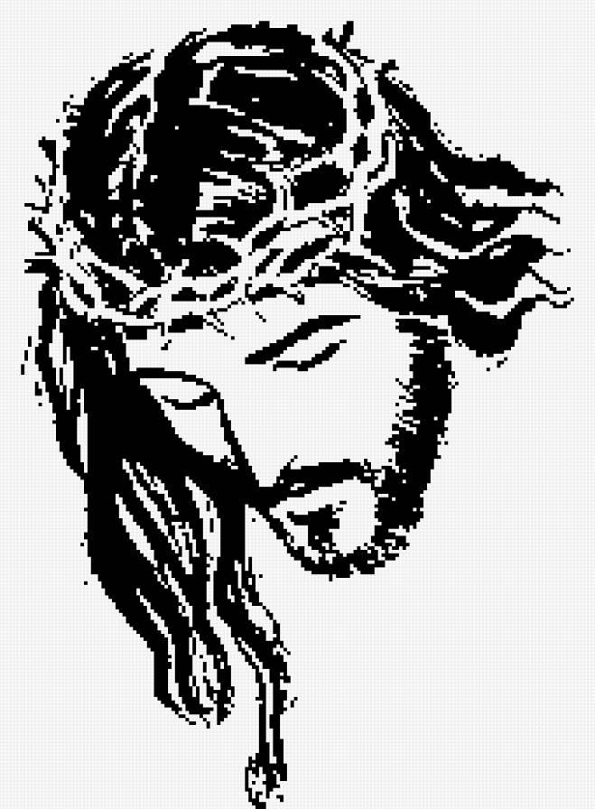Иисус 3 монохром, предпросмотр