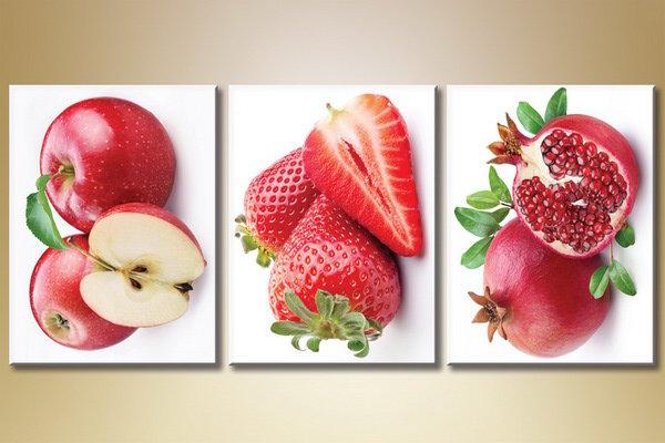 триптих фрукты, картина