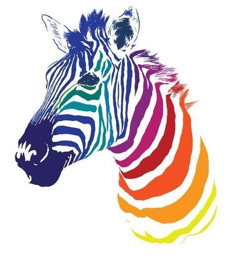 Цветная зебра, оригинал