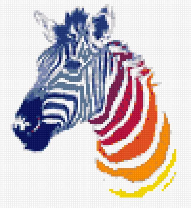 Цветная зебра, предпросмотр