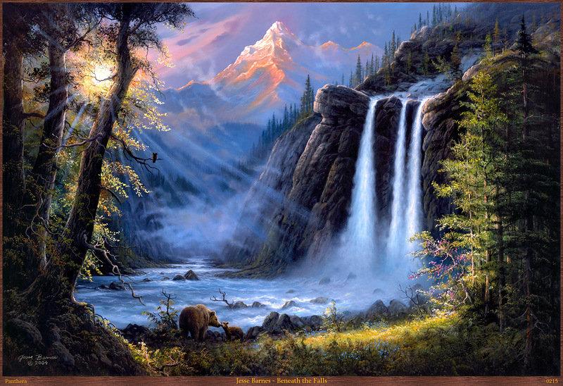 водопад, оригинал
