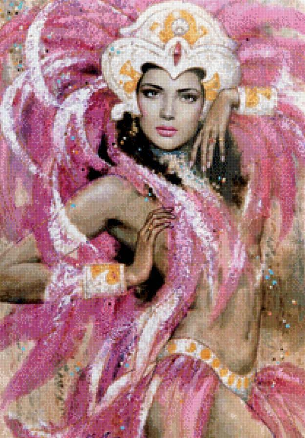 танцовщица на карнавале