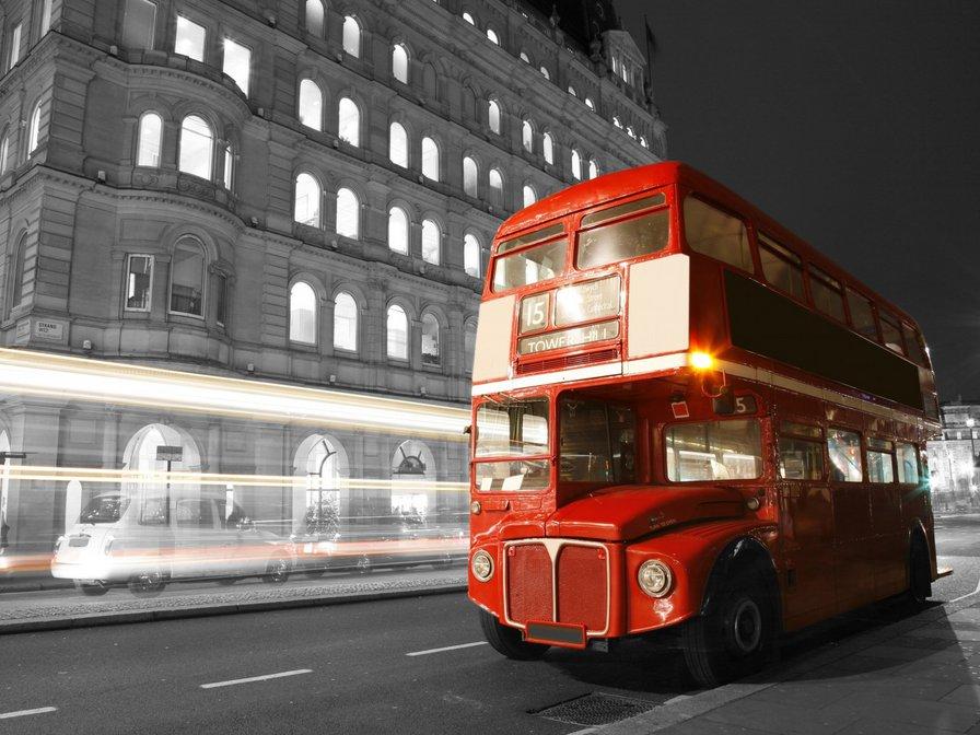Лондон, Англия, автобус,