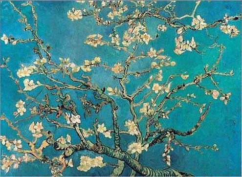 цветущая ветка миндаля Ван Гог