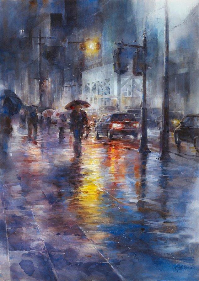 Дождливый город, оригинал