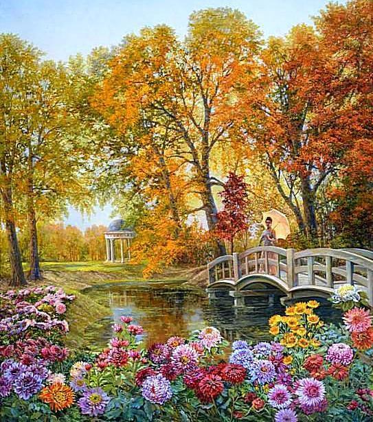 Осенняя прогулка, осень, парк,