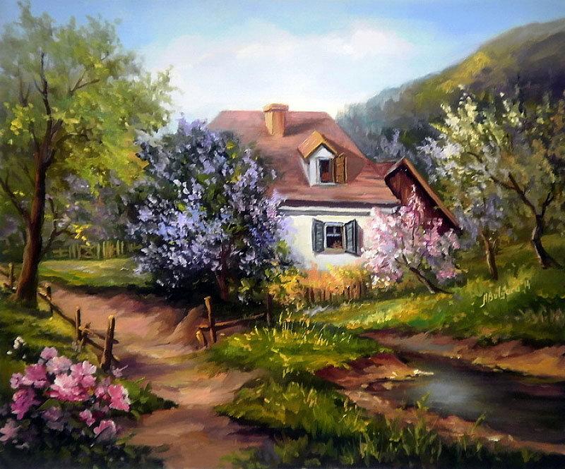 уютный домик, оригинал