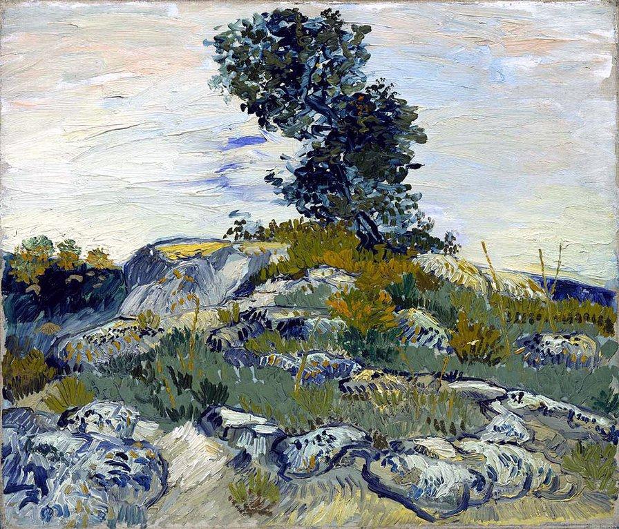 Ван Гог Валуны и дуб 1888,