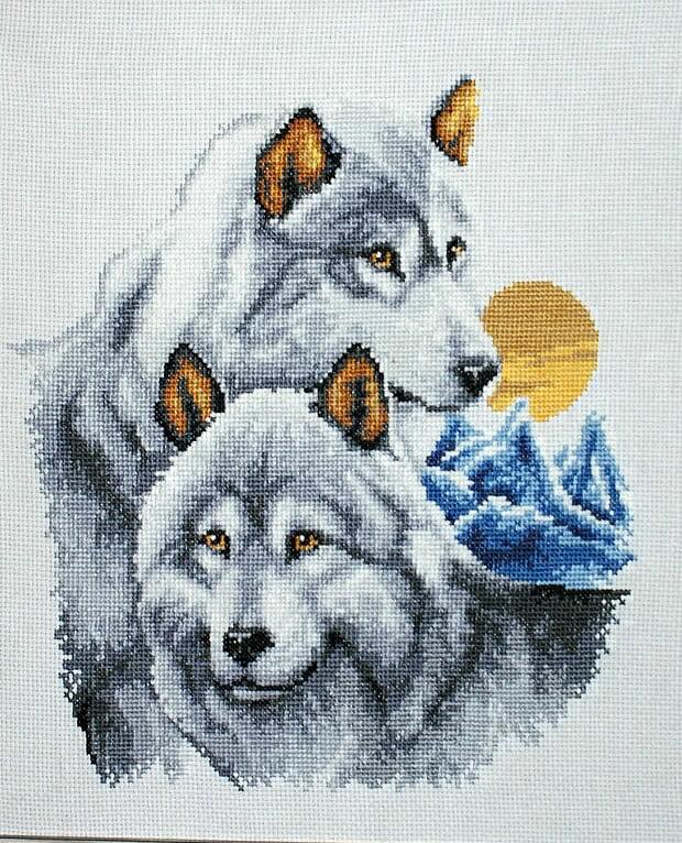 Вышивка волков крестиком схемы