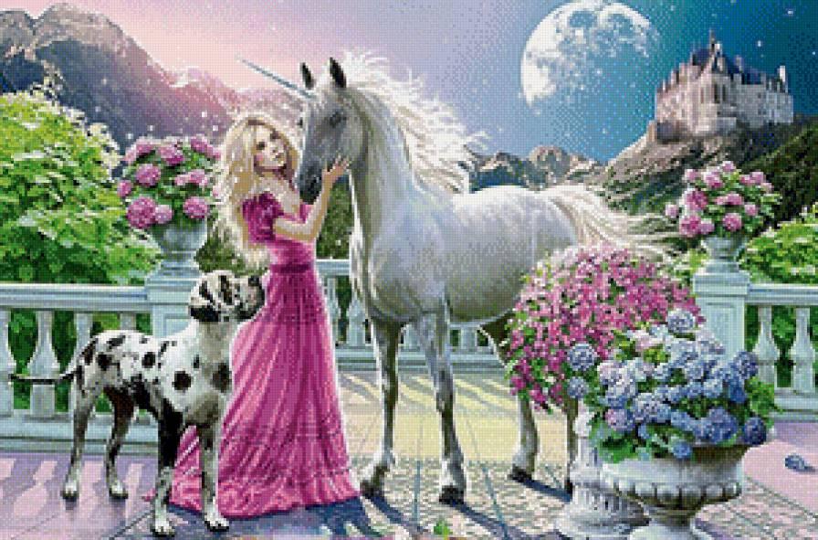 принцесса и единорог