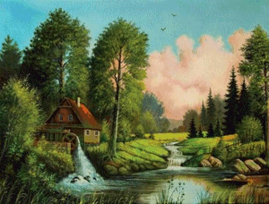 летний пейзаж,