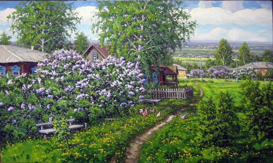 Картинки пейзажи природы в деревне