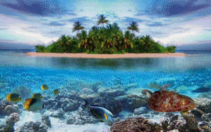 Остров, остров, море, пальмы,