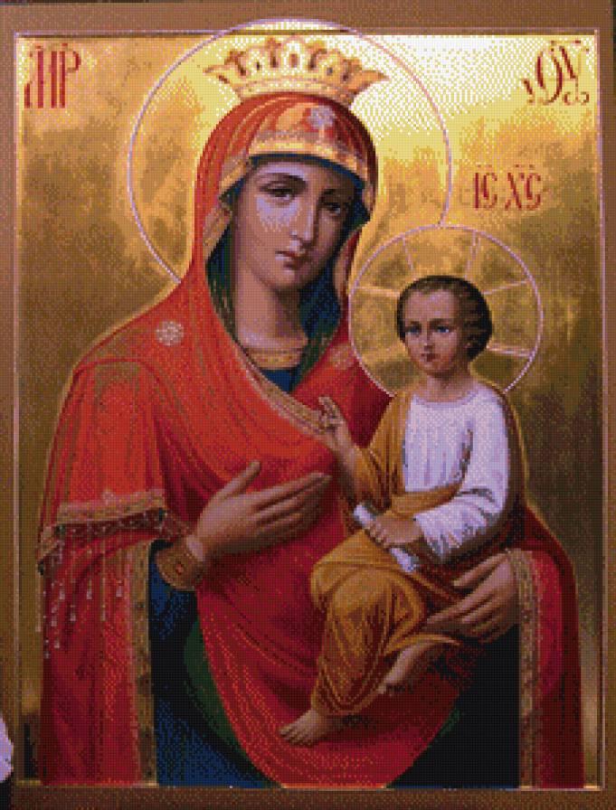Вышивка крестом икон скоропослушница