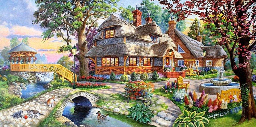 Загородный коттедж, домик